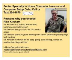 Senior Computer Lessons Oahu