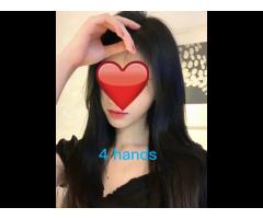 💕💕4 hands 🌑🟣Ruru🟣massage❤️Japanese ❤️girls ❤️ gentle, relaxing massage SENSUAL GIRL